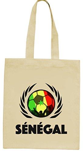 Wappen Fussball WM Fanfest Gruppen natur Jutebeutel Stoffbeutel Tote Bag Fußball Senegal Natur