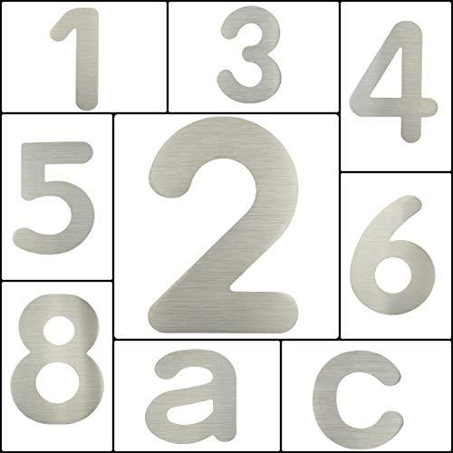 "nanook Hausnummer ""Arco"" – Edelstahl gebürstet – 15 cm – Nr. 2 - 5"