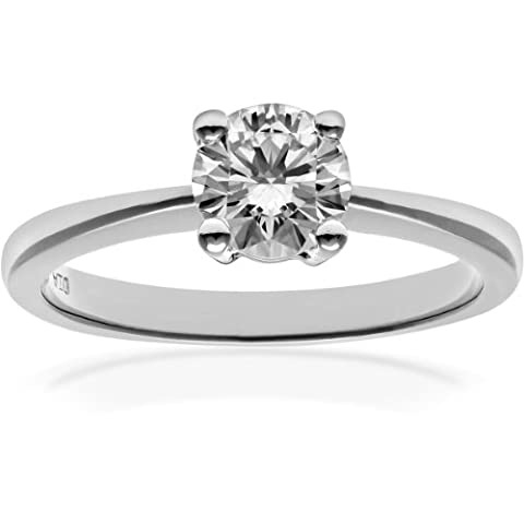 Naava Femme Bagues Platine 950/1000 0.75 carats Diamant - taille 54 (17.2)