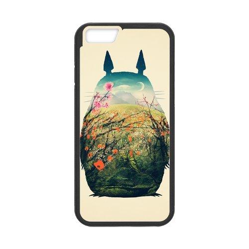 Anime Totoro Design Durable TPU Case Cover Étui Coque de Protection pour Apple iPhone 66S, iPhone 6(4,7pouces), iPhone 6/6S Étui cover case (Blanc/Noir)