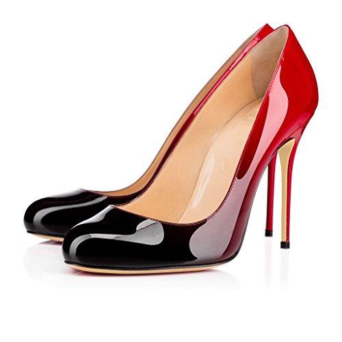 uBeauty Escarpins Femmes Chaussures Stiletto Bout Rond Talon Aiguille Grande Taille Multicolore