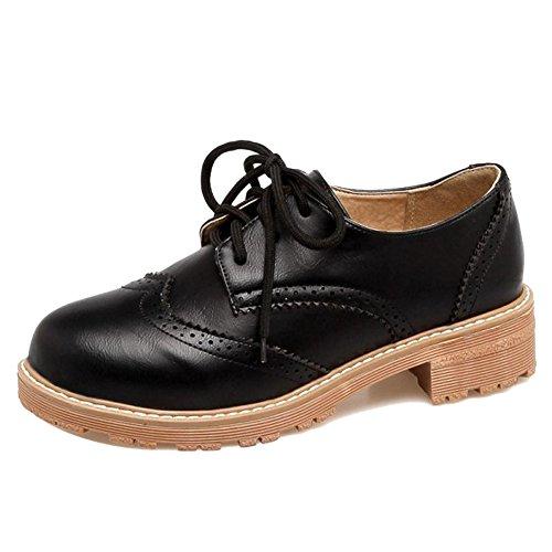 Zanpa Donna Moda Oxford Scarpe Black
