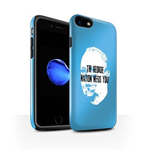 Offiziell Newcastle United FC Hülle / Glanz Harten Stoßfest Case für Apple iPhone 7 / Skizze Muster / NUFC Rafa Benítez Kollektion Geordie Nation