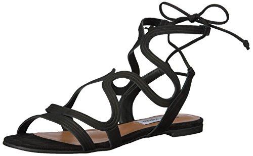 Steve Madden Women's Cece Gladiator Sandal, Black Nubuck, 7 M US (Steve Madden Gladiator)