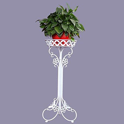 Taos Anzeigen (TAIDLL Regal für anzeigen Europäisch Mode Eisenkunst Blumenständer Landung Balkon / Innen Einzelschicht Gerätehalterung , white , B)