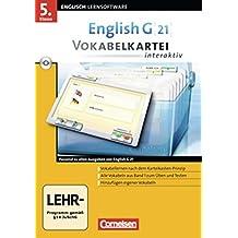 English G 21 - Lernsoftware - Vokabelkarteien interaktiv - zu allen Ausgaben: EG 21 Band 1; 5.Klasse Vokabelkarteien interaktiv zu allen Ausgaben