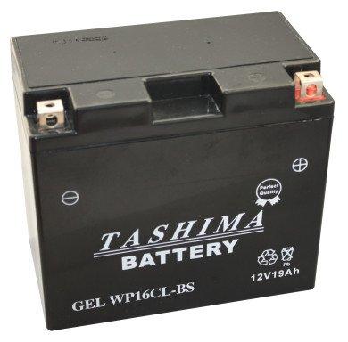 Tashima - Motorrad Batterie Gel WP16CL-BS / YB16CL-BS 12V 19Ah