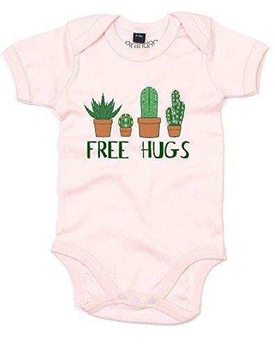 Free Hugs, Gedruckt Baby Strampler - Hellrosa 0-3 Monate