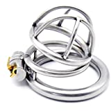 FeiGu Male Stainless Steel Jaulas de Pene Chastity Cage Device 118 (45mm Ring)