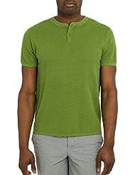 Wool Overs T-shirt texturé homme à col tunisien