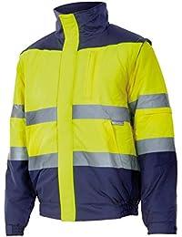 88117a6e2d7b3 Velilla 161 C70 TXL Cazadora de alta visibilidad Azul marino y amarillo  fluorescente XL