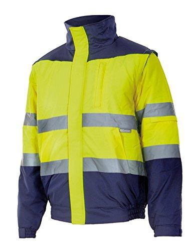 Velilla 161/C70/TL Cazadora de alta visibilidad Azul marino y amarillo fluorescente L