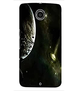 ColourCraft The Universe Design Back Case Cover for MOTOROLA GOOGLE NEXUS 6