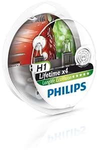 Philips 12258LLECOS2 Lot de 2 ampoules de phare LongLife EcoVision H1