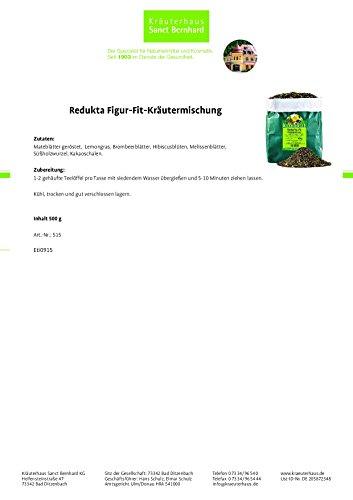 Sanct Bernhard Redukta-PLUS Figur-Fit-Kräutertee mit Mate-, Brombeer- u. Melissenblättern 500 g