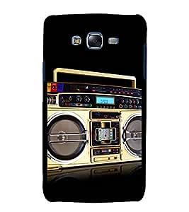 printtech Retro Music Player Back Case Cover for Samsung Galaxy A7 / Samsung Galaxy A7 A700F