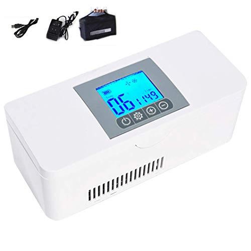 Medizin KüHlschrank, 2-8 ° C Mini-Insulin-KüHlbox, Tragbarer Medizin-KüHlschrank Mit USB-LCD-Monitor, FüR Medikamente, Haus, Auto, Reisen, Camping