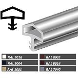 5m Türanschlagdichtung Bayram® Türdichtung Zimmertürdichtung M680 Deventer Farbe: weiß