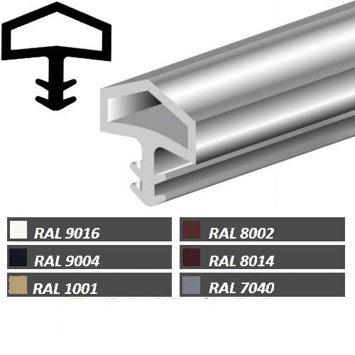 10m Türanschlagdichtung Bayram® Türdichtung Zimmertürdichtung M680 Deventer Farbe: weiß