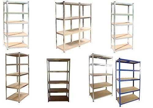 Steckregal - verschiedene Größen / Farben wählbar - Lagerregal, Steckregal, Werkstattregal, Regal, verzinkt oder blau beschichtet, (Modell 1) -
