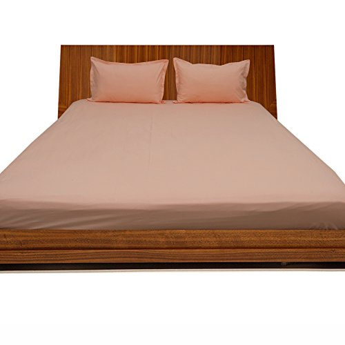 RoyalLinens Fadendichte 300100% ägyptische Baumwolle elegant Finish 3Spannbetttuch Solid (Pocket Größe: 45,7cm), Baumwolle, Peach Solid, EU_King -
