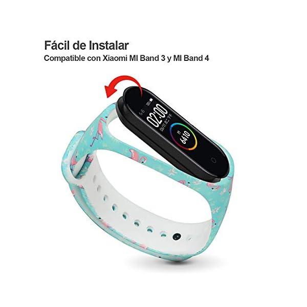 G-Color Correa Xiaomi mi band 3/4, 8 Colores, Correa de Silicona Blando, Impermeable y Ajustable, Pulsera/Banda… 2