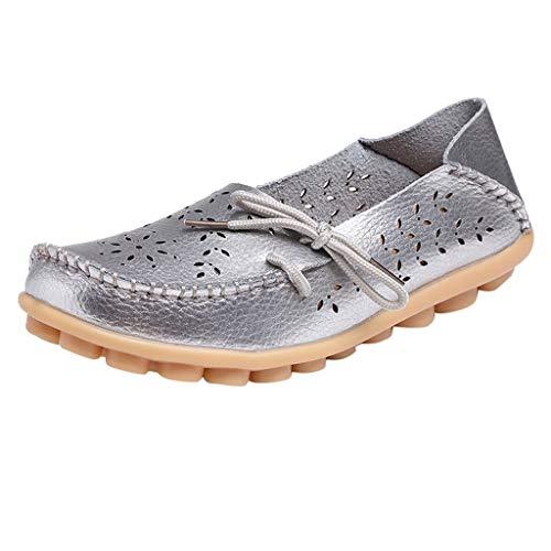 B-commerce Mutter Flache Schuhe - Casual Krankenschwester mit flachen Schuhe Damen Casual Driving Schuhe Soft Lace Up Damen Müßiggänger Schuhe