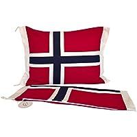 Classic Textiles Of Sweden Kissenbezug USA oder Norwegen-Flagge, Ausführung:Variante A