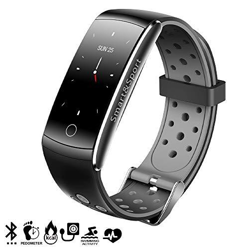 DAM TEKKIWEAR. DMX222BK. Pulsera Inteligente Ak-Q8S Bluetooth con Pantalla A Color, Sumergible, Podómetro, Monitor Cardíaco Y De Presión Sanguínea. Negro