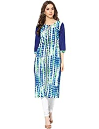 Amayra Designer Tie Dye Printed Cotton Kurti For Womens Party And Casual Wear