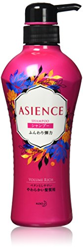 KAO Asience Nature Smooth Shampoo - 480ml Pump Dispenser by Asience