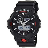 Casio Mens Quartz Watch, Analog-Digital Display and Rubber Strap GA700-1ACR