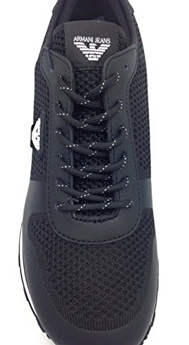 Armani Jeans chaussures baskets sneakers homme blu Noir