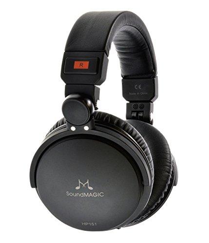 SoundMAGIC HP151-BK Ohrumschließender High-Fidelity Kopfhörer mit Austauschbarem Kabel schwarz