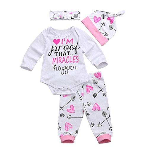 Babykleidung,Honestyi Herbst Winter neugeborenes Baby Mädchen Buchstaben Spielanzug...