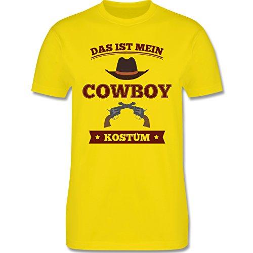 Karneval & Fasching - Das ist mein Cowboy Kostüm - Herren Premium T-Shirt Lemon Gelb