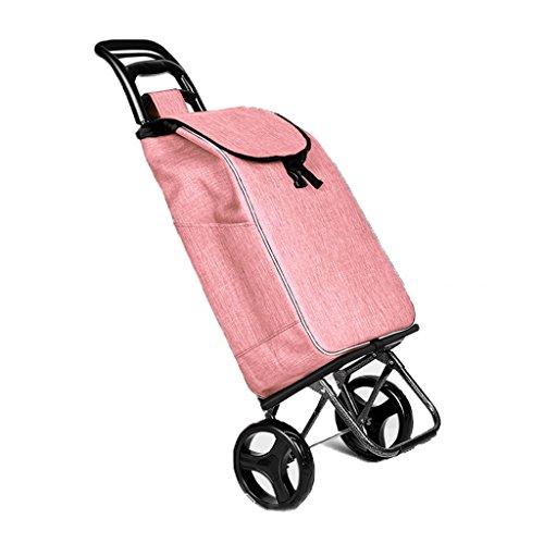 FXJ Staircase Shopping gepäck Faltbare Tragbare gepolsterte Wasserdichte Tasche Mute Rad Trolley warenkorb kann 35 kg Gewicht (Farbe : B)