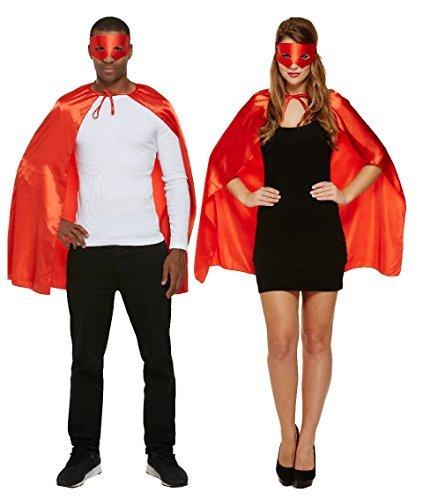 VERKLEIDUNG ERWACHSENE SUPERHELD ROT (Rote Superhelden Kostüm)