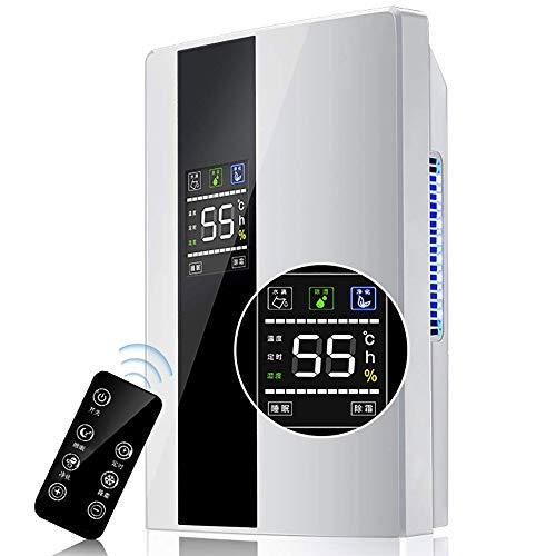 Zyyqt Luftentfeuchter, Haushalt Klein, Digital-Feuchtigkeits-Anzeige, Automatische Einstellung der verschiedenen Modi, Entfeuchtung und Reinigung von Luft