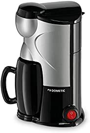 Dometic MC-01 Single Cup Coffee Maker, 12 V, Silver/Black