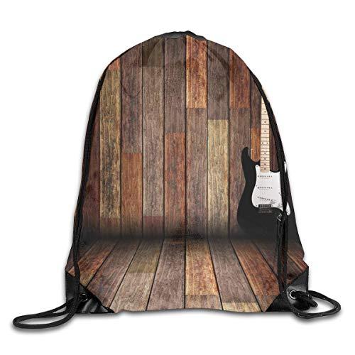 vbndgfhjd Bundle Backpack Popstar Electric Guitar Fitness Large Capacity Shoulder Drawstring Bags - Guitar Popstar