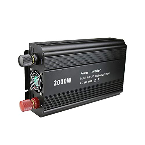 US Standard 2000W Wechselrichter Ultrahochleistungswandler Große Kapazität 12 bis 110V Spitzenleistung 4000W Mit Schutz -