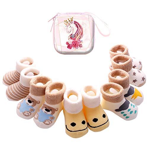 Sweetneed 6 Pares Calcetines Recien Nacido niño Calcetines de recién nacido Calcetines bebe niña...