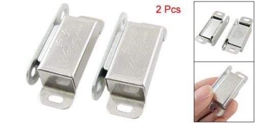 2PCS Silber Tone Metall Rechteck Einzel Magnetverschluss für Schrank