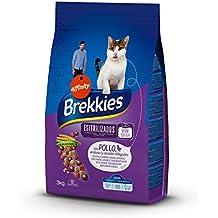 Brekkies Pienso para Gatos Gatos Esterilizados con Pollo y Verduras - Paquete de 4 x 3000
