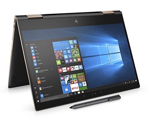 HP Spectre x360 13-ae003na 13.3-Inch 4K Convertible Laptop with stylus - (Dark Ash Silver) (Intel Core i7-8550U, 16 GB RAM, 1 TB SSD, Intel UHD Graphics 620, Windows 10 Home)