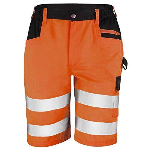 Result Core Pantaloni corti tipo cargo alta visibilità - Uomo (M) (Arancio)