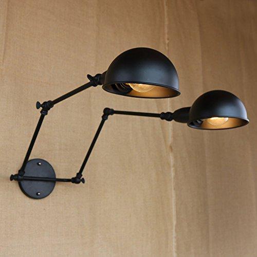 LIVY estilo loft pared retro industrial lámpara de la mesilla lámpara espejo...