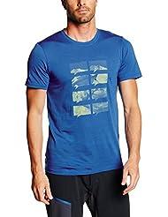 Ortovox-Camiseta para hombre (lana merino Mountain, Blue Ocean, S, 8801500001
