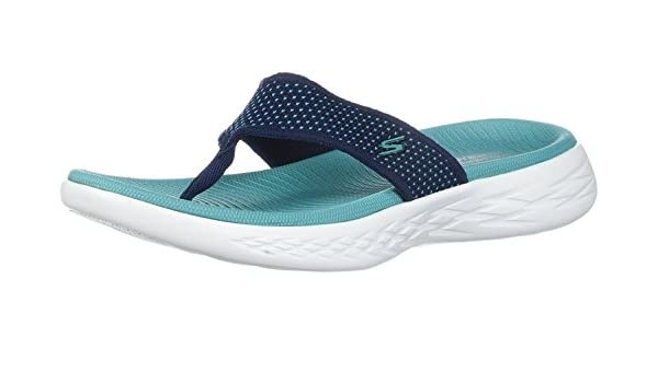 8cb132c55b Skechers On The Go 600 Navy Turquoise Womens Sandals  Amazon.co.uk ...